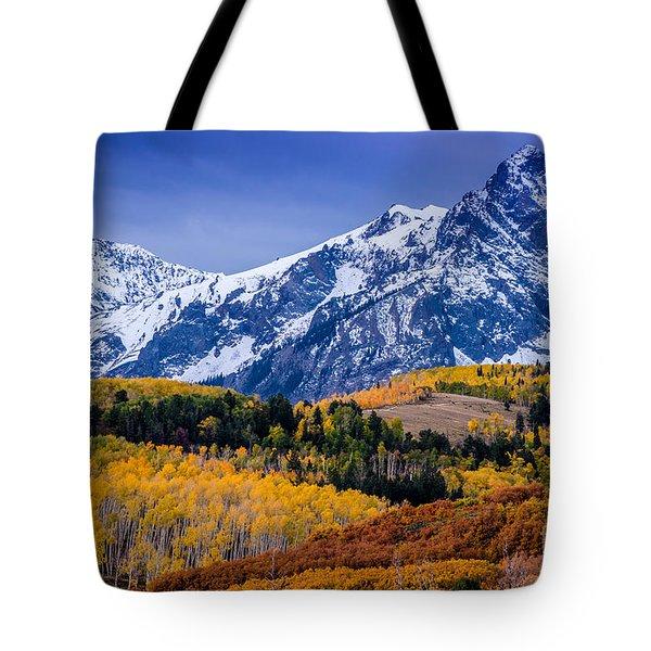 Sneffels Range Fall Sunrise - Dallas Divide - Colorado Tote Bag