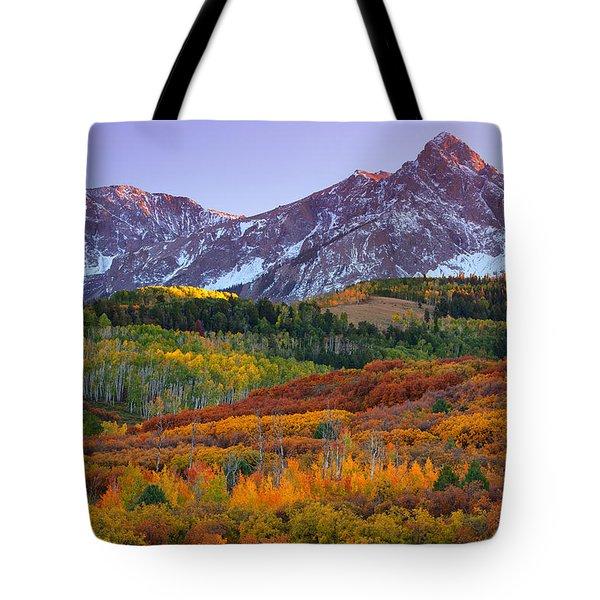 Sneffels Sunrise Tote Bag by Darren  White