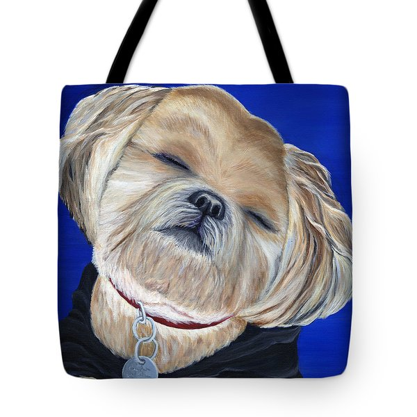 Tote Bag featuring the painting Snickers by Michelle Joseph-Long