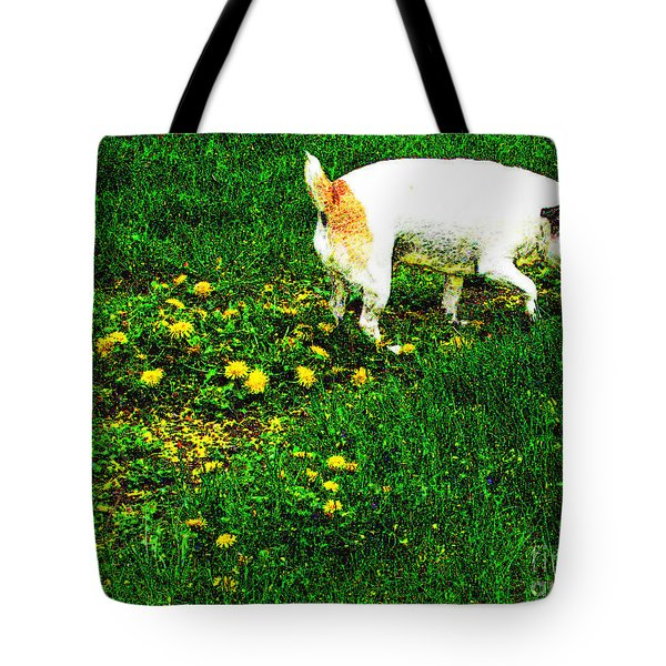 Sniffin The Dandelions Tote Bag by Minding My  Visions by Adri and Ray