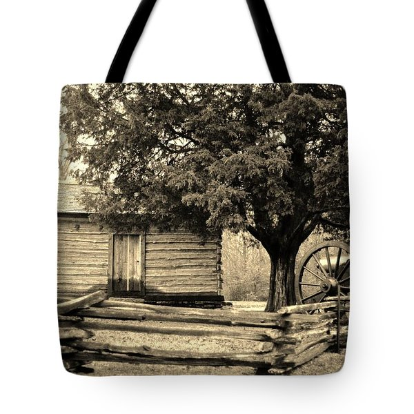 Snodgrass Cabin And Cannon Tote Bag