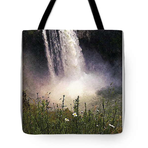 Tote Bag featuring the photograph Snoqualmie Falls Wa. by Kenneth De Tore