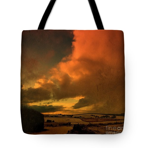 Snow And Fire Tote Bag