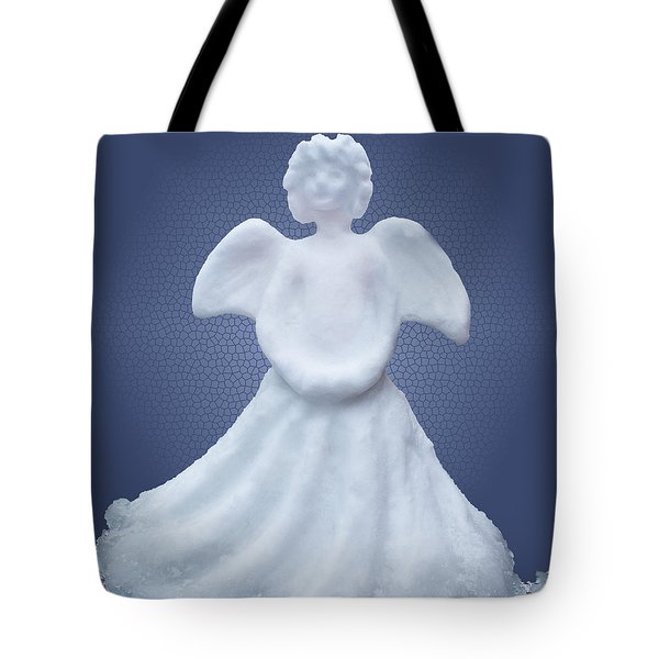 Snow Angel Tote Bag by Barbara McMahon