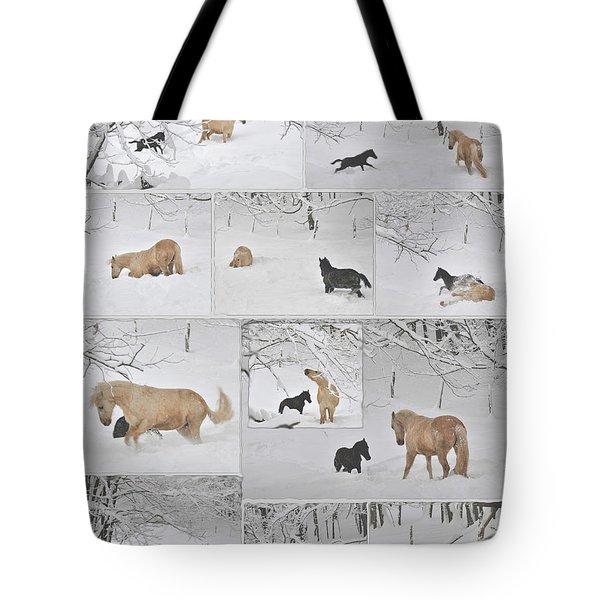 Snow Angels Paso Fino Style Tote Bag