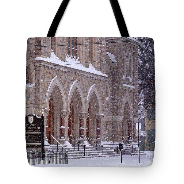 Snow At St. John's Tote Bag