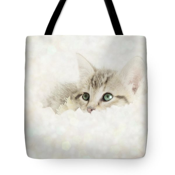 Snow Baby Tote Bag by Amy Tyler