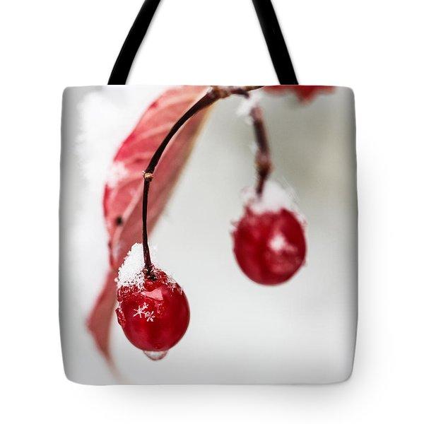 Snow Berries Tote Bag