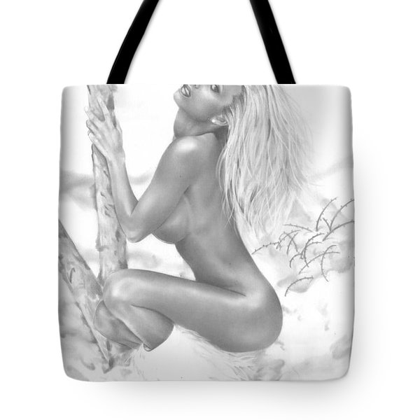Snow Bunny Tote Bag by Pete Tapang