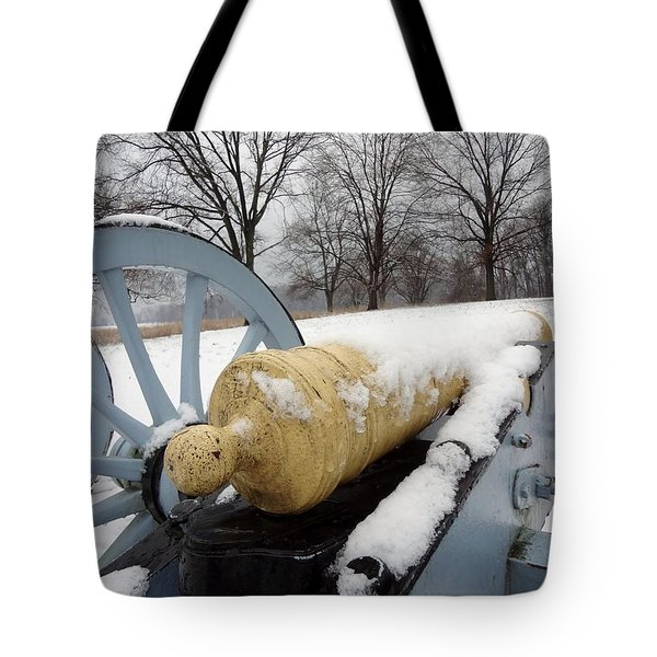 Snow Cannon Tote Bag by Michael Porchik