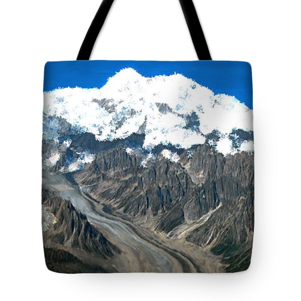Snow Capped Canyon Tote Bag