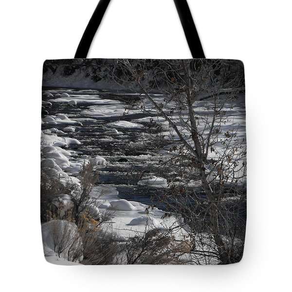 Snow Capped Stream Tote Bag