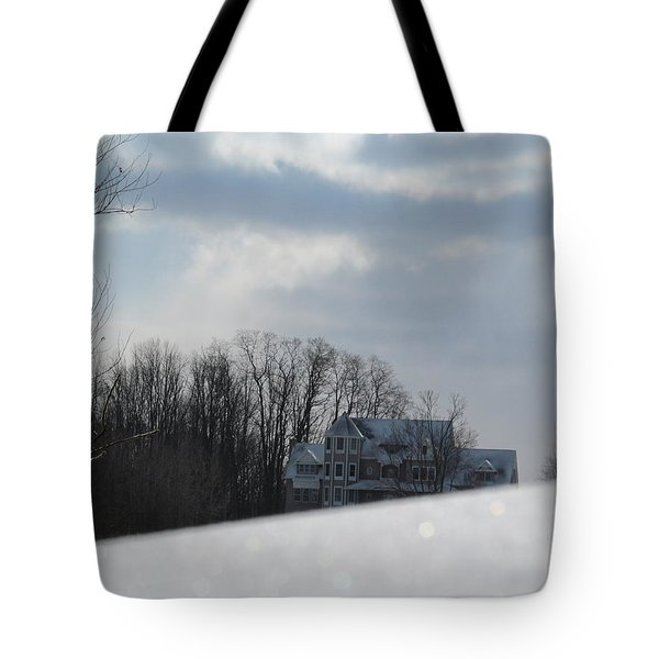 Snow Covered Driveway Tote Bag by Tina M Wenger