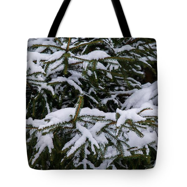Snow Covered Spruce Tree - Featured 2 Tote Bag by Alexander Senin