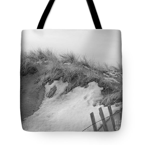Snow Covered Sand Dunes Tote Bag by Eunice Miller