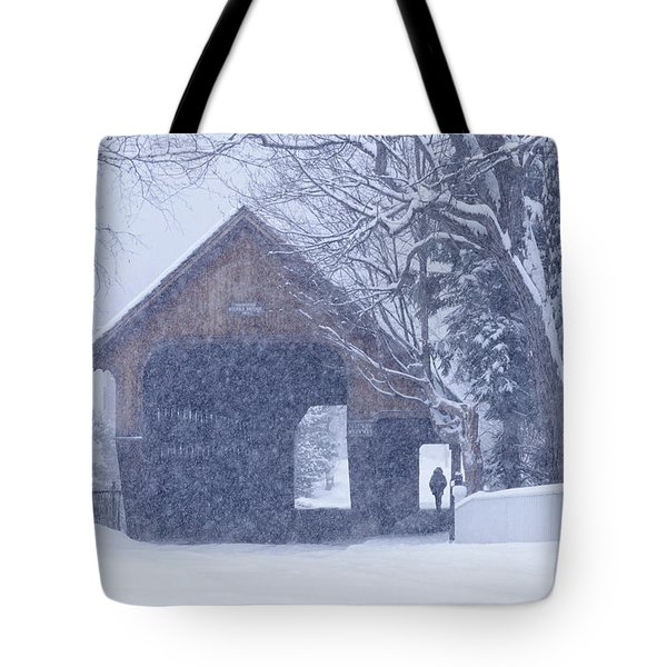 Tote Bag featuring the photograph Snow Day by Alan L Graham