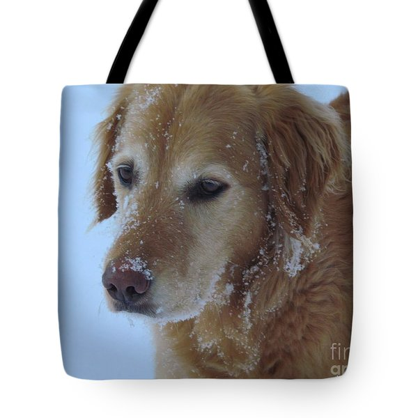 Snow Day Tote Bag by Elizabeth Dow