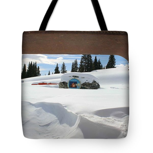 Tote Bag featuring the photograph Snow Daze by Fiona Kennard