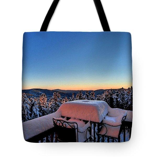 Snow Deck Sunrise - Water Color Tote Bag