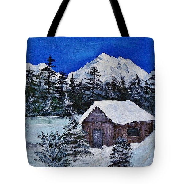 Snow Falling On Cedars Tote Bag