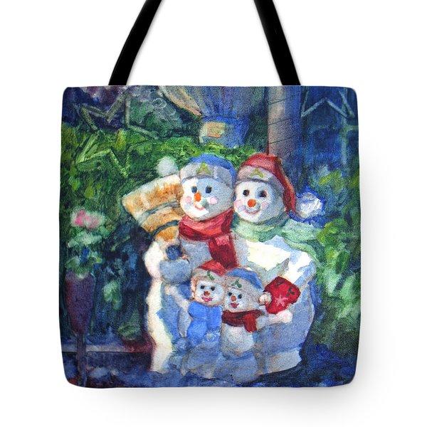 Snow Family Tote Bag
