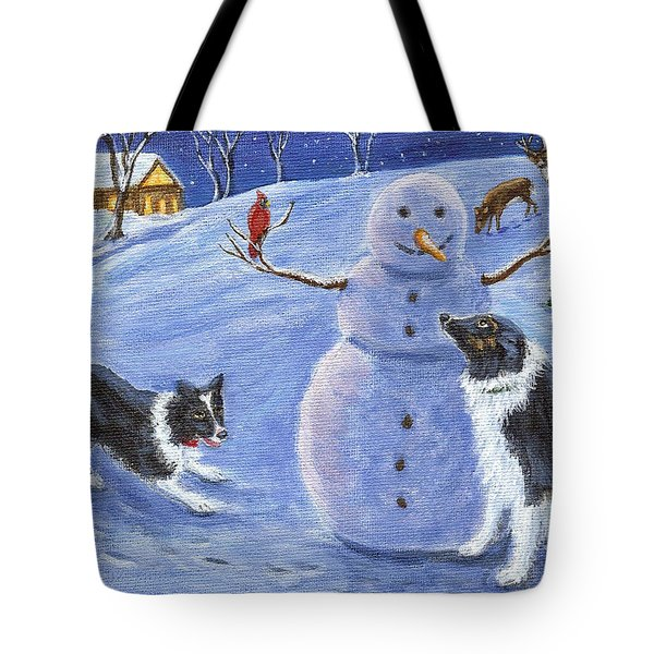 Snow Friends Tote Bag