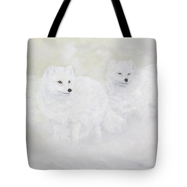 Snow Ghosts Of The North Tote Bag by Johanna Lerwick