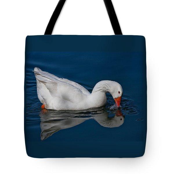 Snow Goose Reflected Tote Bag by John Haldane