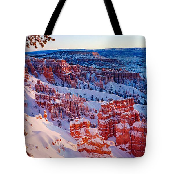 Snow In Bryce Canyon National Park Tote Bag by Panoramic Images