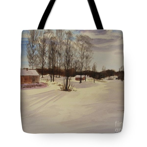 Snow In Solbrinken Tote Bag