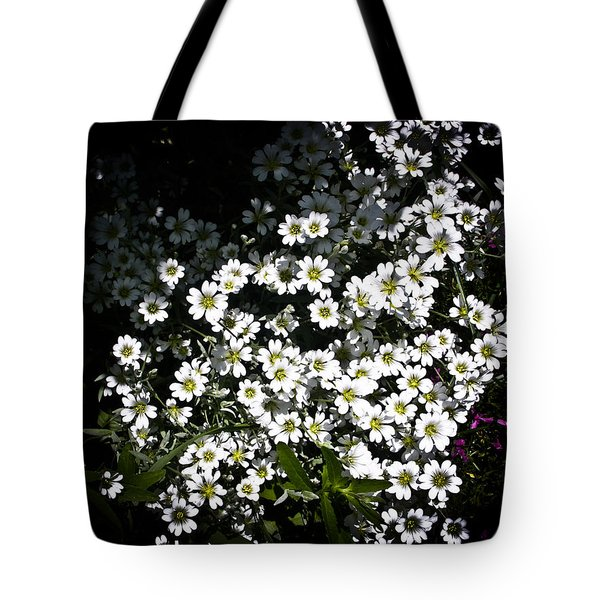 Tote Bag featuring the photograph Snow In Summer by Joann Copeland-Paul