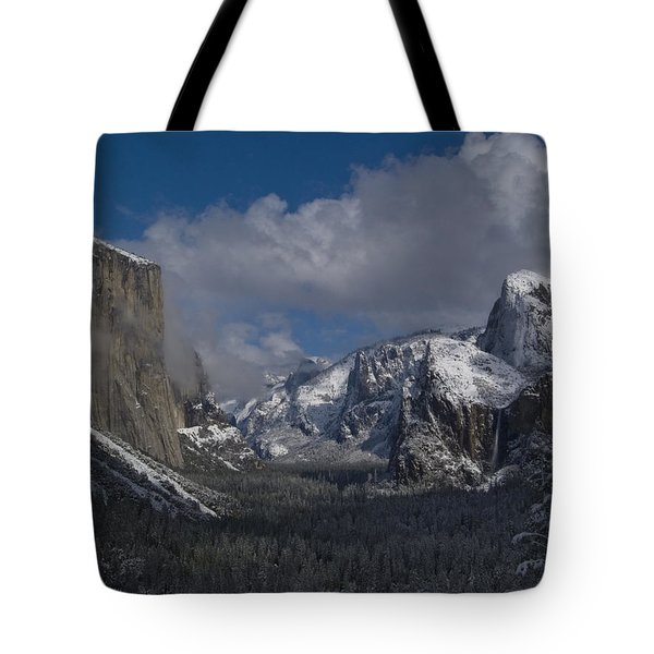 Snow Kissed Valley Tote Bag by Bill Gallagher