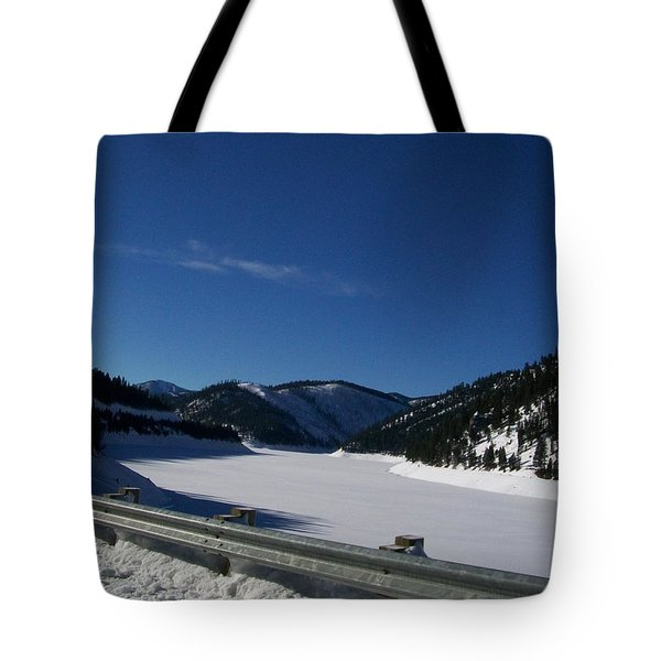 Snow Lake Tote Bag by Jewel Hengen