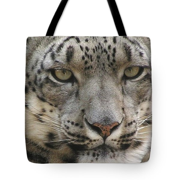 Snow Leopard Tote Bag by Diane Alexander