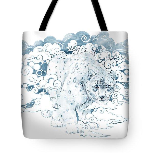 Ghost Cat Tote Bag by Sassan Filsoof