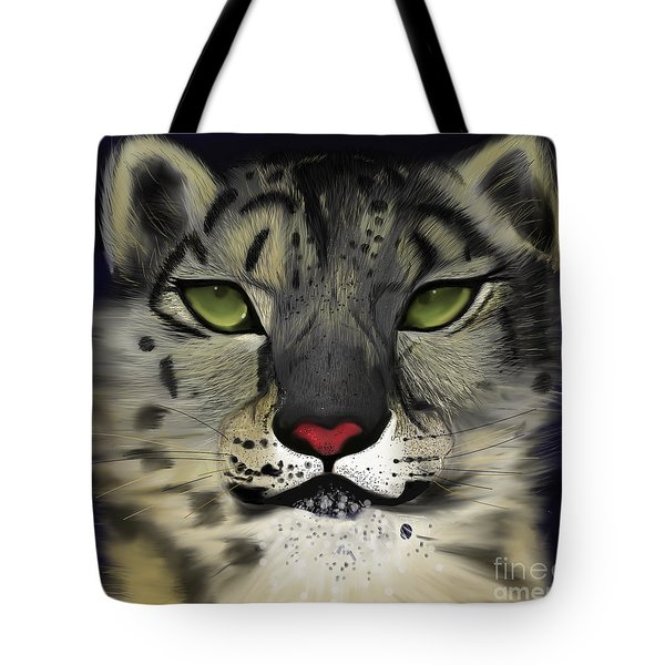 Snow Leopard - The Eyes Have It Tote Bag