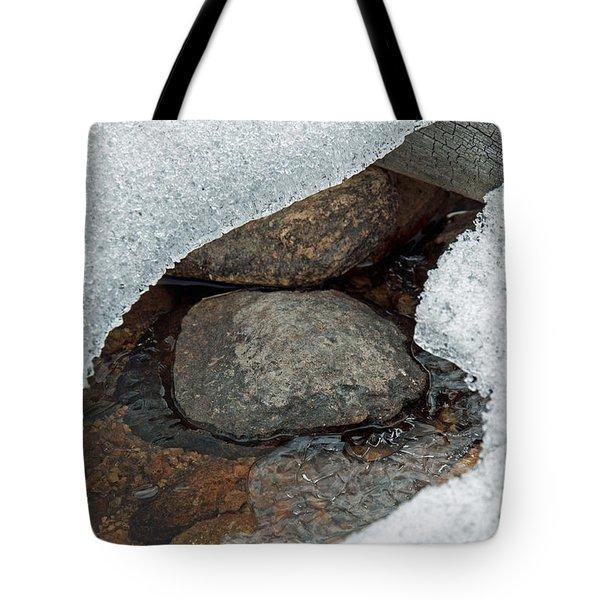 Snow Melt 1 Tote Bag by Minnie Lippiatt