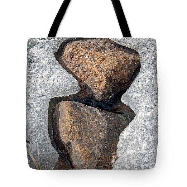 Snow Melt 2 Tote Bag by Minnie Lippiatt