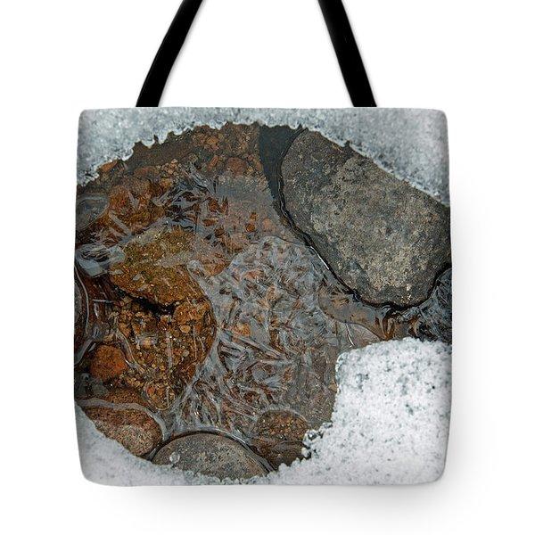 Snow Melt 3 Tote Bag by Minnie Lippiatt