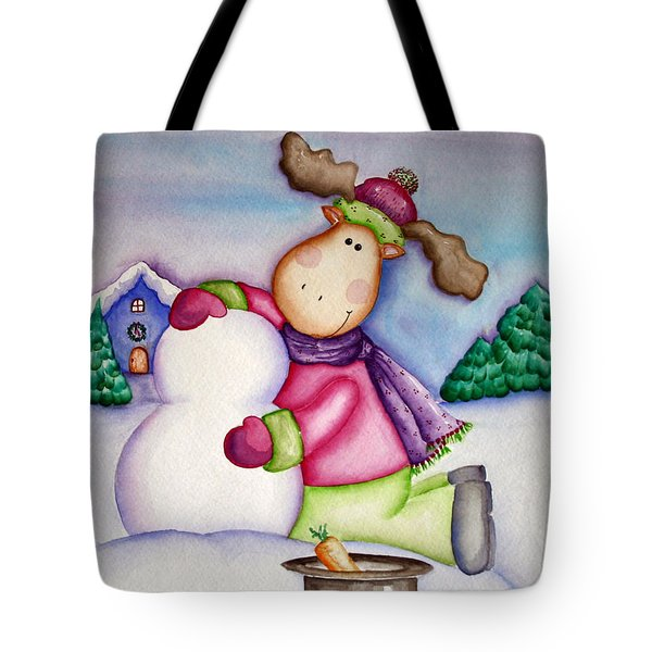 Snow Moose Tote Bag