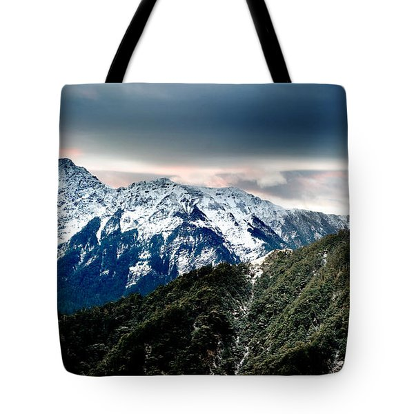 Tote Bag featuring the photograph Snow Mountain by Yew Kwang
