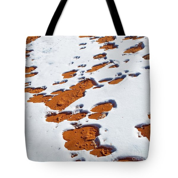 Snow On Dunes Tote Bag