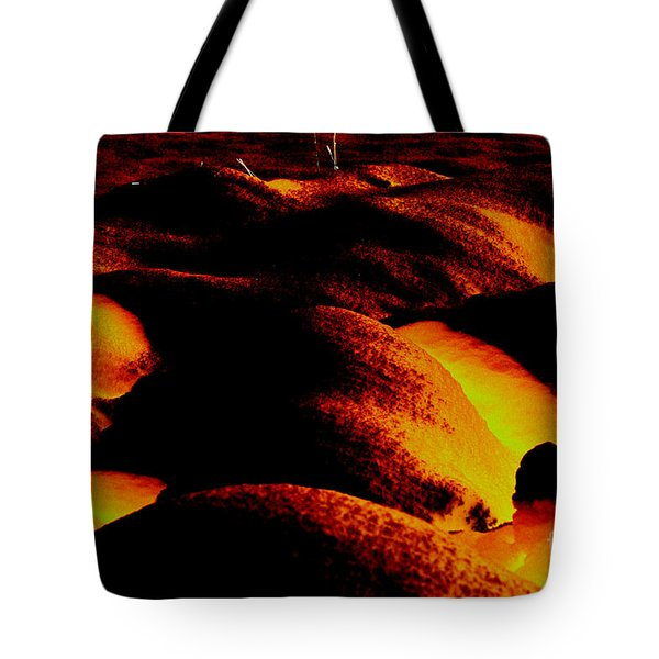 Snow On Fire Tote Bag by Carol Lynch