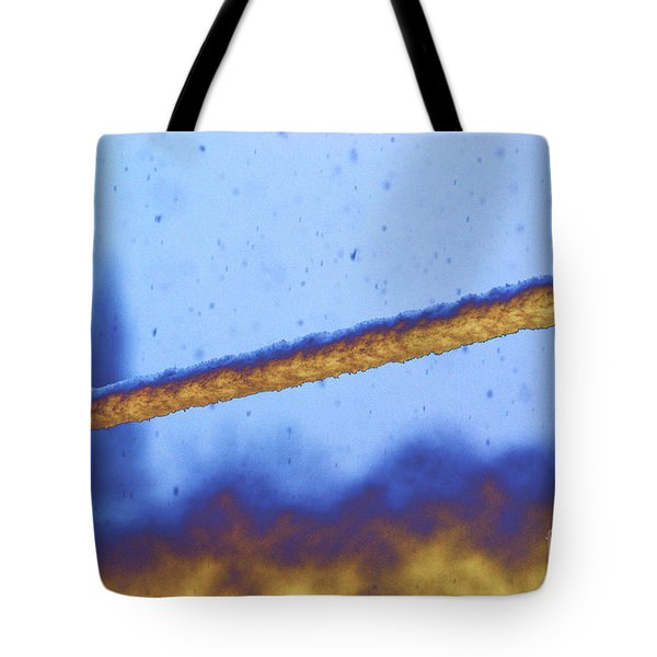 Snow On Line Tote Bag by Carol Lynch