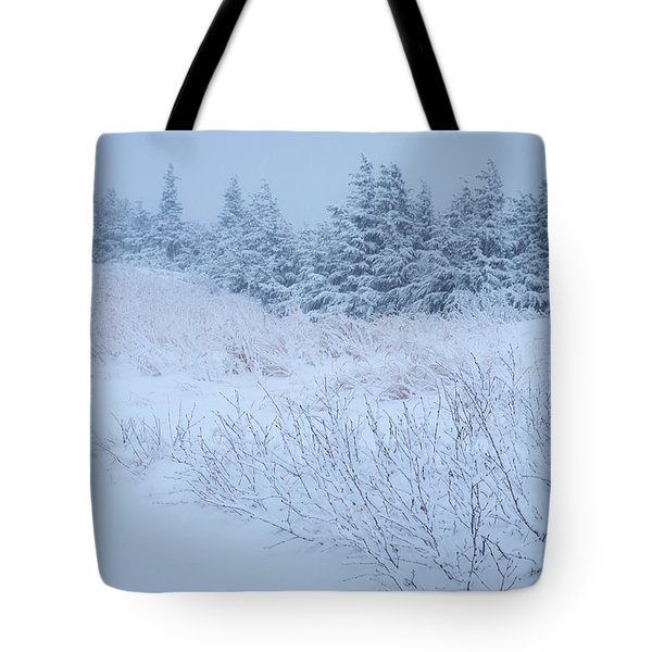 Snow On New Years Eve Tote Bag