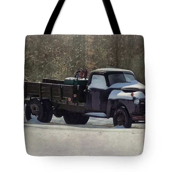 Snow On The Farm Tote Bag