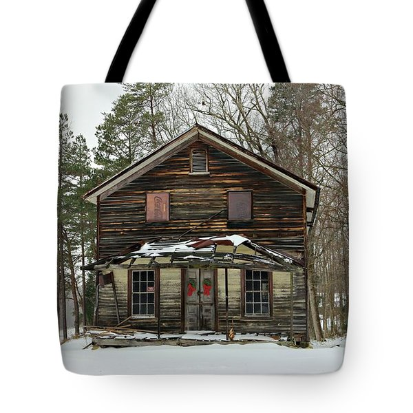 Snow On The General Store Tote Bag by Benanne Stiens