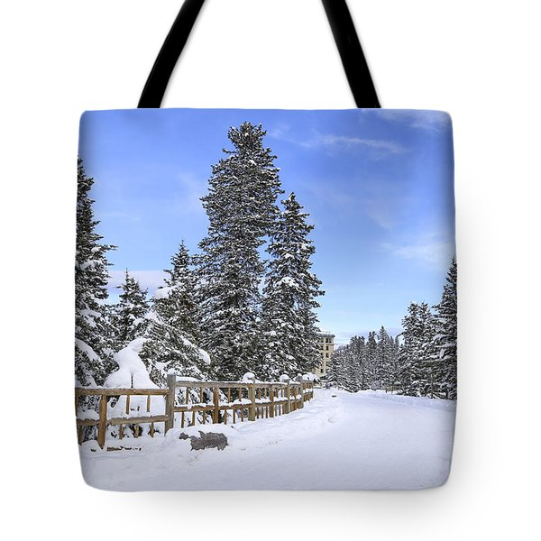 Snow Path Tote Bag