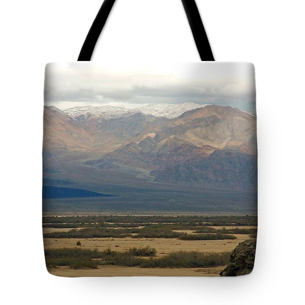 Tote Bag featuring the photograph Snow Peaks by Stuart Litoff