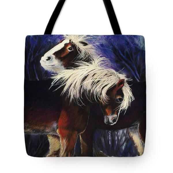 Snow Ponies Tote Bag